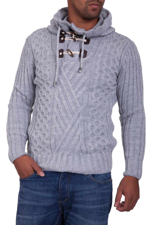 Pulover Tricotat Barbati Carisma Gri 7098