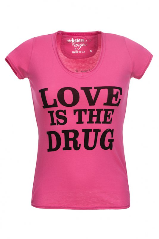 Tricou Rockstars & Angels Roz Love Is The Drug