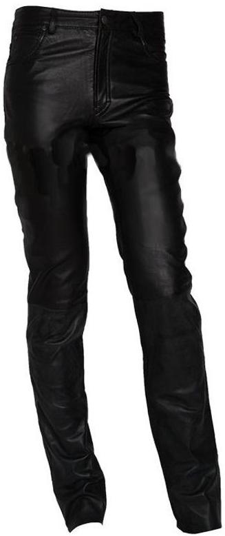 Pantaloni de Piele Naturala Barbati Gipsy Negri 1194 Jeans LWAWV