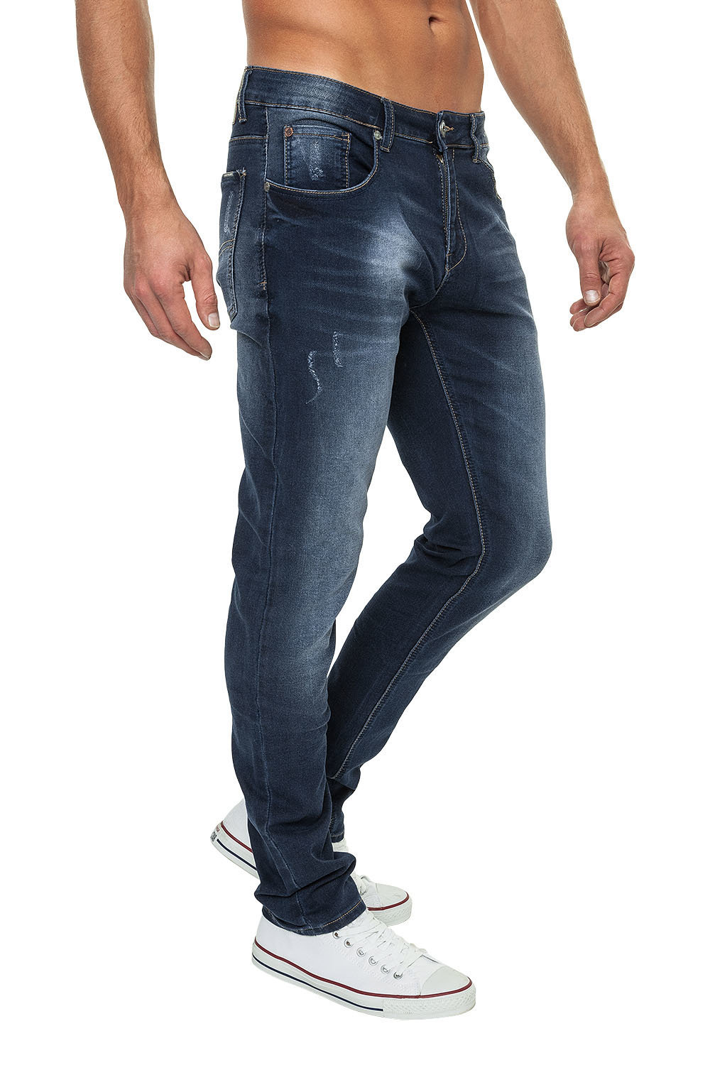 Blugi Barbati Crosshatch Slim Fit Jeans Joggan DW