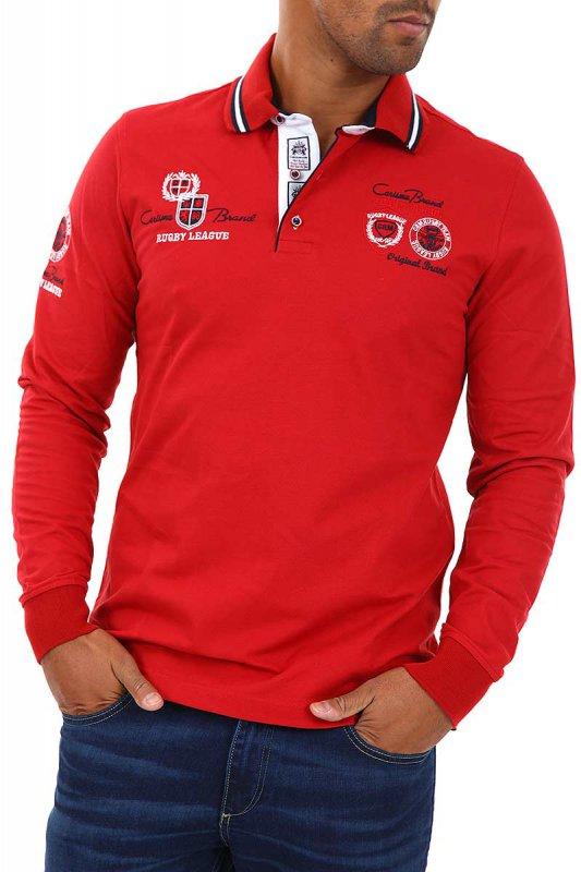 Tricou Polo cu maneci lungi Carisma Rosu 3035