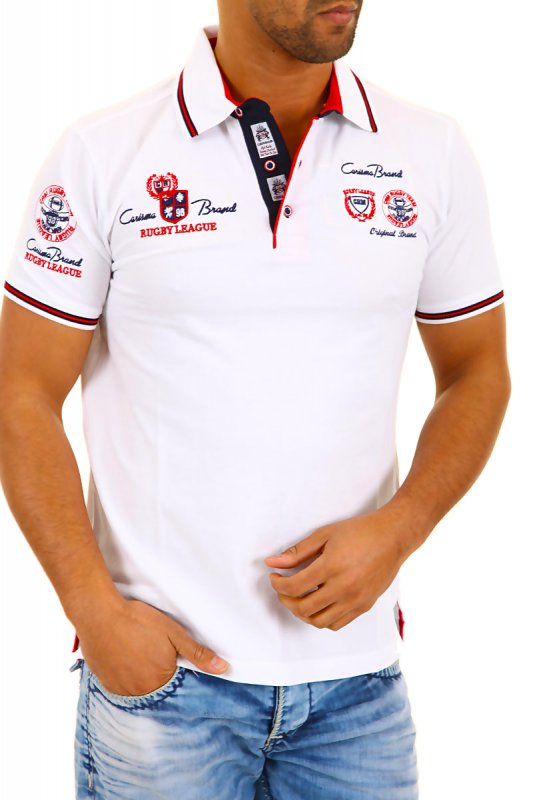 Tricou Polo Barbati Carisma Alb 4011