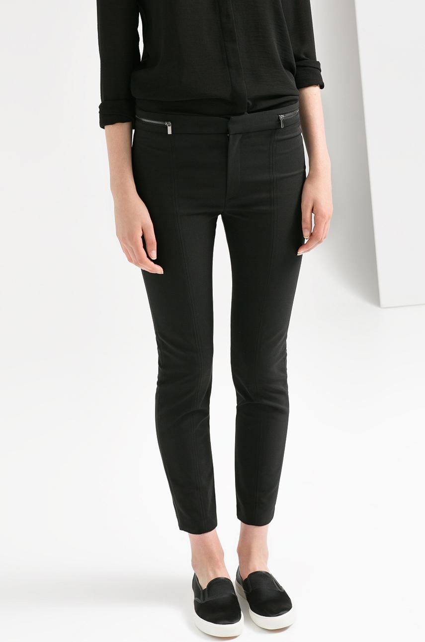 Pantaloni Dama Mango Negri Kw14-spd006