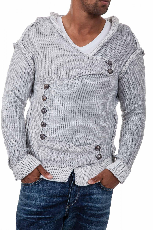 Pulover Tricotat Barbati Carisma Gri 7100