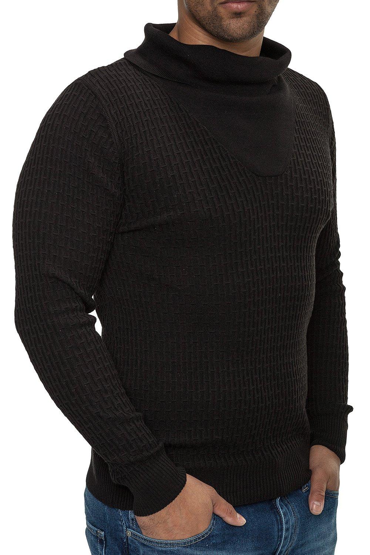 Pulover Barbati din Tricot Fin Carisma Negru 7132