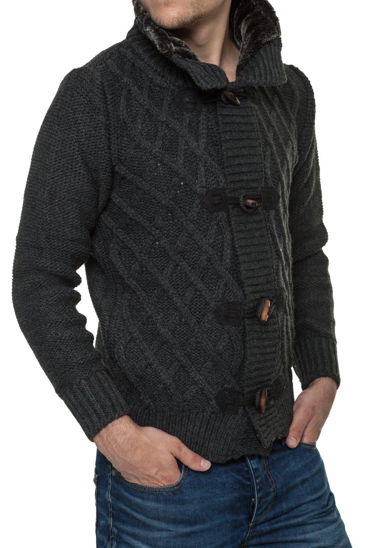 Jacheta-Pulover Tricotat Barbati Carisma Antracit 7169
