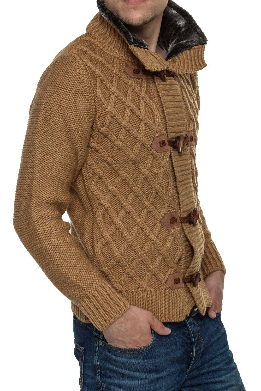 Jacheta-Pulover Tricotat Barbati Carisma Maro 7169