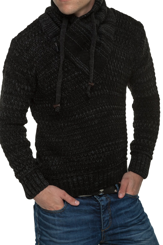 Pulover Tricotat Barbati Carisma Negru 7189