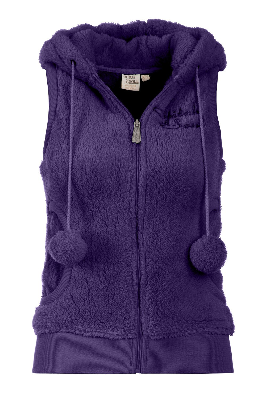 Vesta Dama Stitch Soul Violet cu Gluga D2004W82220C