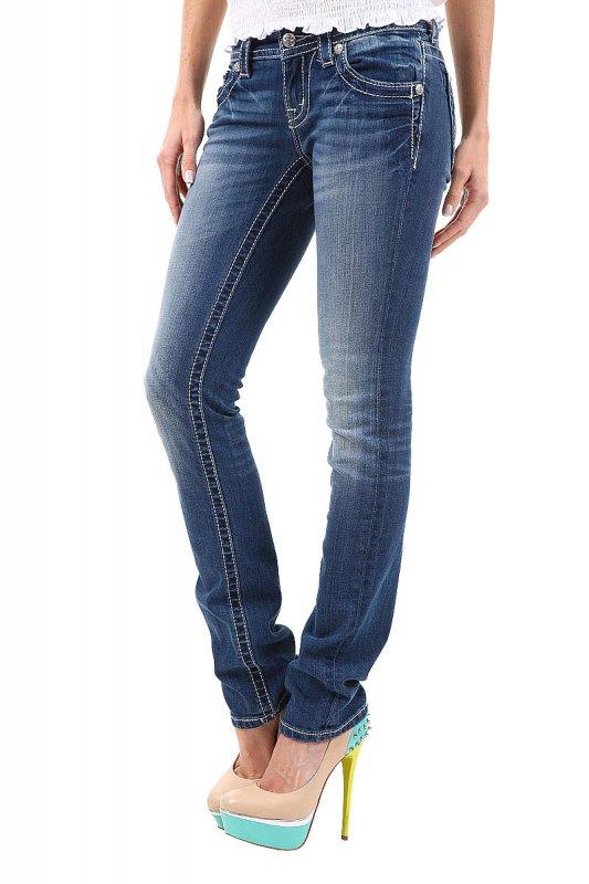 Blugi femei Miss Me Skinny Jeans Albastri JP5724T