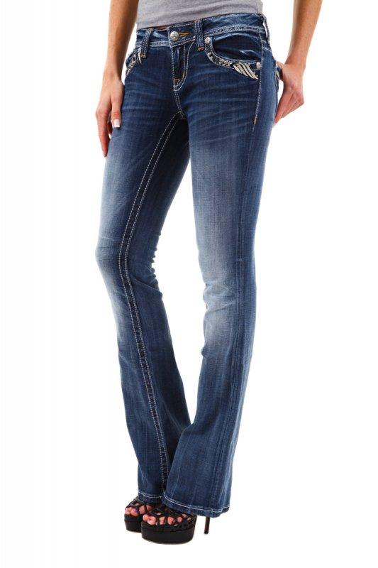 Blugi dama Miss Me Jeans JW5814B Blue