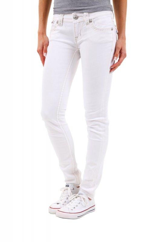 Blugi dama Miss Me Skinny Jeans Albi JW6171S2